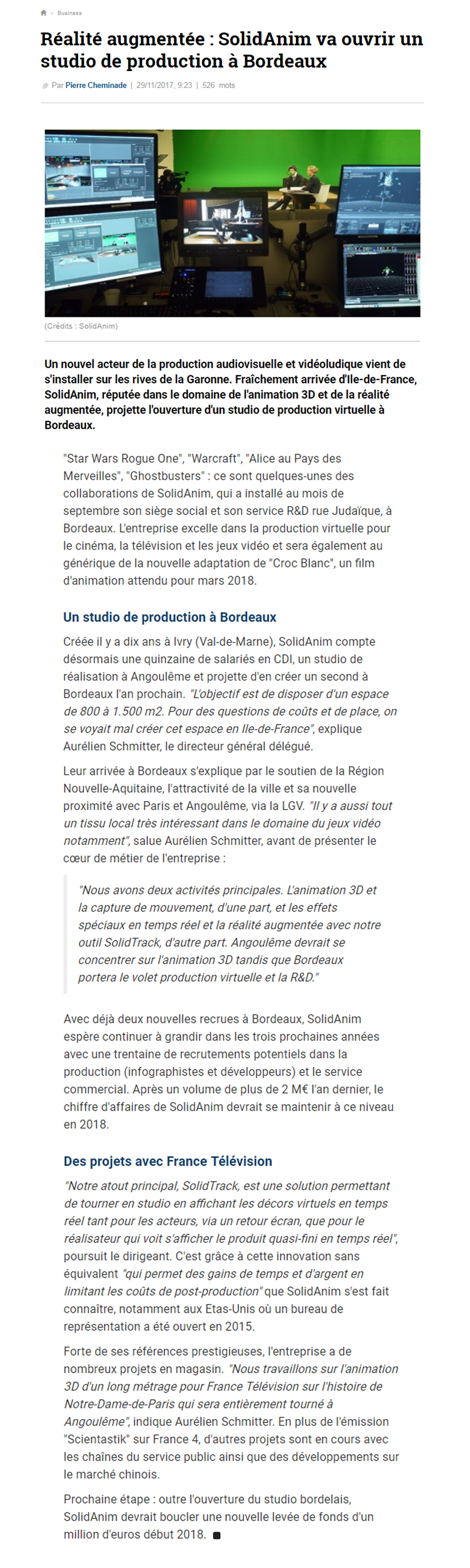 article la tribune Bordeaux